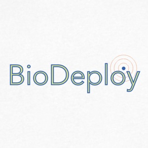 BioDeploy Logo Blue Mix - Men's V-Neck T-Shirt by Canvas