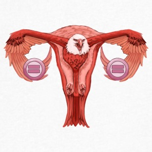 Eagle Uterus - Men's V-Neck T-Shirt by Canvas