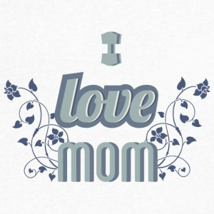 I_love_mom - Men's V-Neck T-Shirt by Canvas