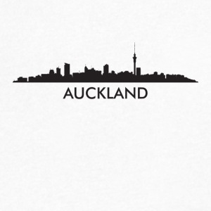 Auckland New Zealand Skyline - Men's V-Neck T-Shirt by Canvas