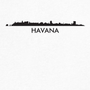 Havana Cuba Skyline - Men's V-Neck T-Shirt by Canvas