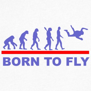 Born to fly2 - Men's V-Neck T-Shirt by Canvas