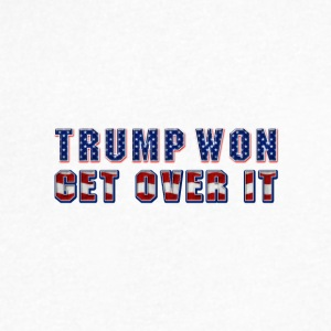 Trump Won, Get Over It. - Men's V-Neck T-Shirt by Canvas