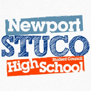 Newport Stuco Student Council High School - Men's V-Neck T-Shirt by Canvas