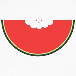 Water Melon - Men's V-Neck T-Shirt by Canvas