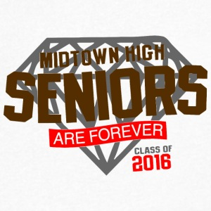 Midtown High Seniors Are Forever Class of 2016 - Men's V-Neck T-Shirt by Canvas