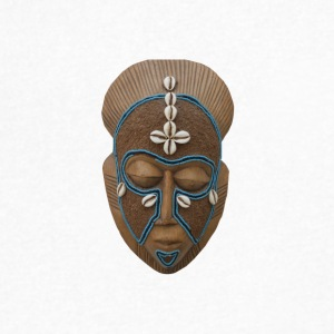 African mask - Men's V-Neck T-Shirt by Canvas