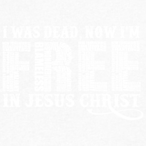 Free In Christ Jesus - Men's V-Neck T-Shirt by Canvas