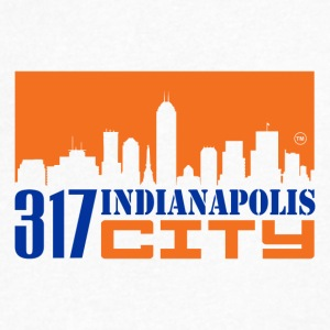 317INDIANAPOLIS CITY - Men's V-Neck T-Shirt by Canvas