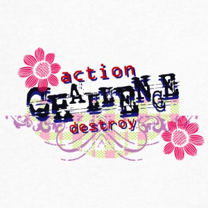 ACTION DESTROY - Men's V-Neck T-Shirt by Canvas
