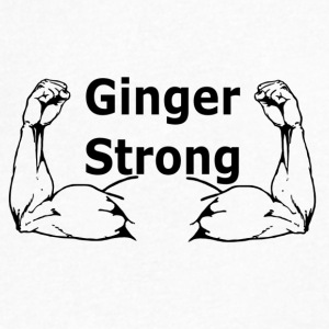 Ginger Strong - Men's V-Neck T-Shirt by Canvas