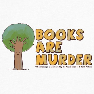 Books are Murder - Men's V-Neck T-Shirt by Canvas