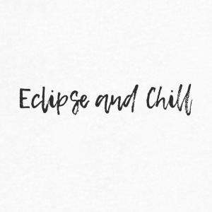 Eclipse and Chill - Men's V-Neck T-Shirt by Canvas