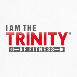 I AM THE TRINITY OF FITNESS - Men's V-Neck T-Shirt by Canvas