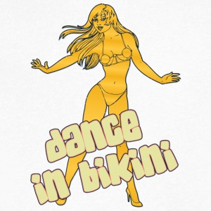 dance_in_bikini_yellow - Men's V-Neck T-Shirt by Canvas