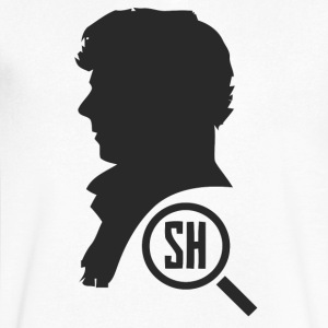 Sherlock Holmes - Men's V-Neck T-Shirt by Canvas
