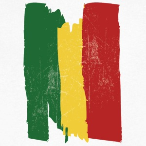 Ethiopian flag - Men's V-Neck T-Shirt by Canvas