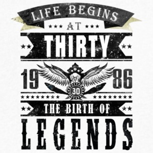 Birth of Legends T Shirt - Men's V-Neck T-Shirt by Canvas