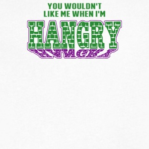 Hangry - Men's V-Neck T-Shirt by Canvas