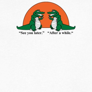 See You Later Alligator - Men's V-Neck T-Shirt by Canvas