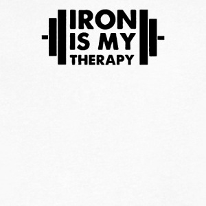Iron is My Therapy - Men's V-Neck T-Shirt by Canvas