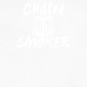 Chain Smoker Disc - Men's V-Neck T-Shirt by Canvas