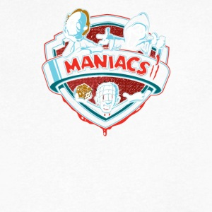 MANIACS II - Men's V-Neck T-Shirt by Canvas