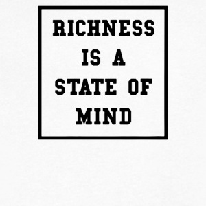 Richness Is A State Of Mind - Men's V-Neck T-Shirt by Canvas