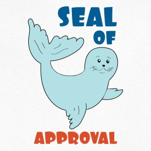seal of approval - Men's V-Neck T-Shirt by Canvas