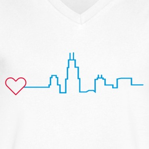 Heart for Chicago - Men's V-Neck T-Shirt by Canvas