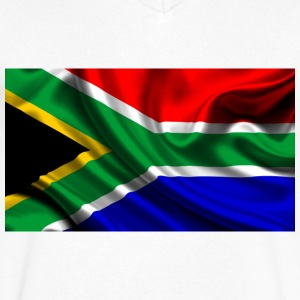 South-African-Flag - Men's V-Neck T-Shirt by Canvas