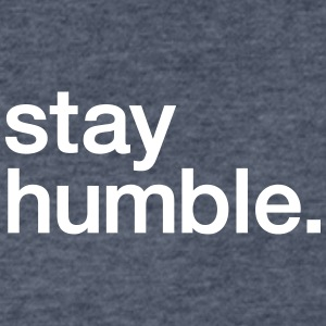 Stay Humble - Men's V-Neck T-Shirt by Canvas