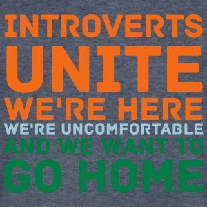 Introverts Unite - Men's V-Neck T-Shirt by Canvas