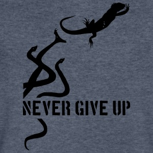 Iguana vs Snakes - Men's V-Neck T-Shirt by Canvas