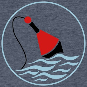 fishing float - Men's V-Neck T-Shirt by Canvas