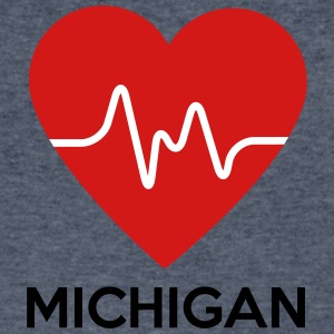 Heart Michigan - Men's V-Neck T-Shirt by Canvas
