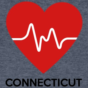 Heart Connecticut - Men's V-Neck T-Shirt by Canvas