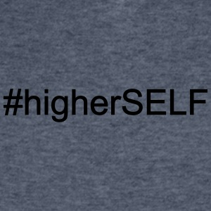 #Higher Self - Men's V-Neck T-Shirt by Canvas