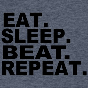 Eat Sleep Beat Repeat - Men's V-Neck T-Shirt by Canvas