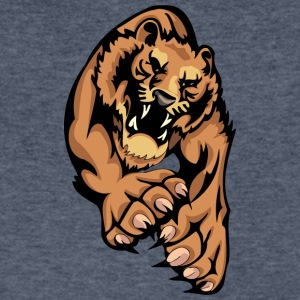 sharp_claw_lion - Men's V-Neck T-Shirt by Canvas