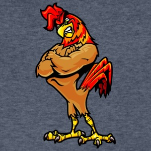 muscular_rooster - Men's V-Neck T-Shirt by Canvas