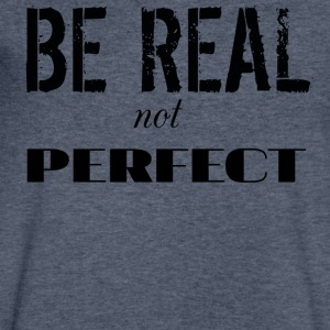 BE REAL - Men's V-Neck T-Shirt by Canvas
