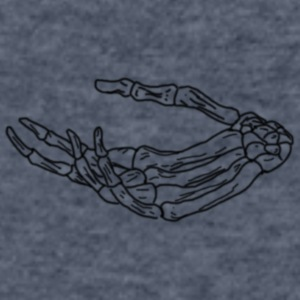 skeleton hand - Men's V-Neck T-Shirt by Canvas