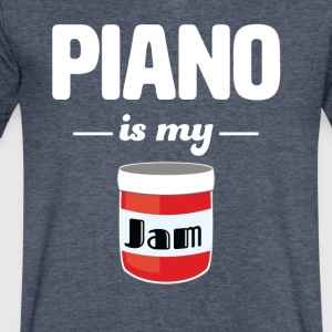 Piano is my Jam - Men's V-Neck T-Shirt by Canvas