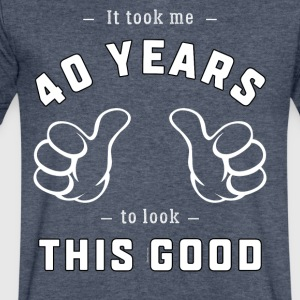 40th Birthday Gift: It Took Me 40 Years To ...Good - Men's V-Neck T-Shirt by Canvas