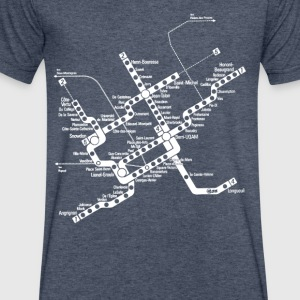 METRO Map - Men's V-Neck T-Shirt by Canvas