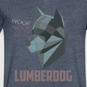 LumberDog - Men's V-Neck T-Shirt by Canvas