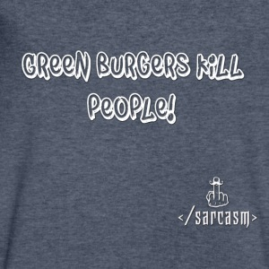 Ramsayism # 5 - Green burgers kill people! - Men's V-Neck T-Shirt by Canvas