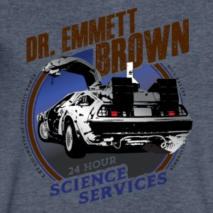 Dr. Emmett Brown Science Services - Men's V-Neck T-Shirt by Canvas