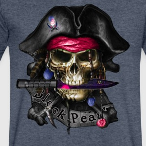 Black Pearl Pirate - Men's V-Neck T-Shirt by Canvas